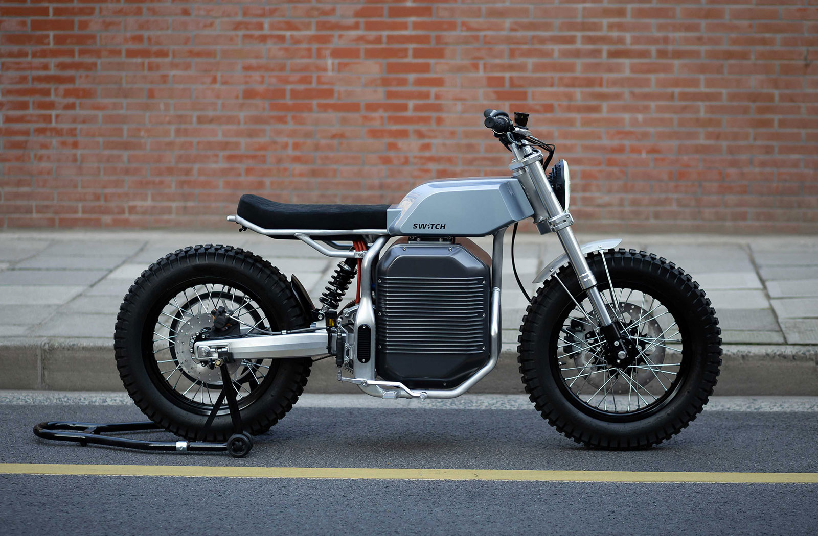 Switch eScrambler electric motorcycle from Shanghai