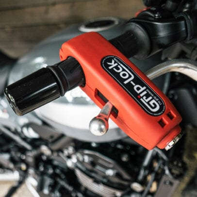 Grip-Lock motorcycle throttle lock