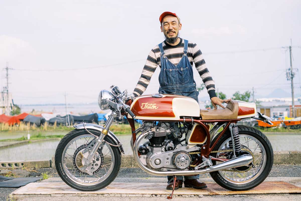 Berry Bad MC Triton cafe racer from Japan