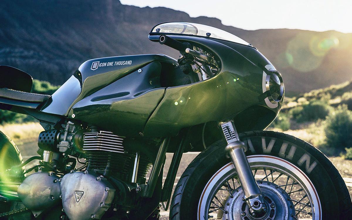 The Icon 1000 Three Martini Lunch Triumph Thruxton