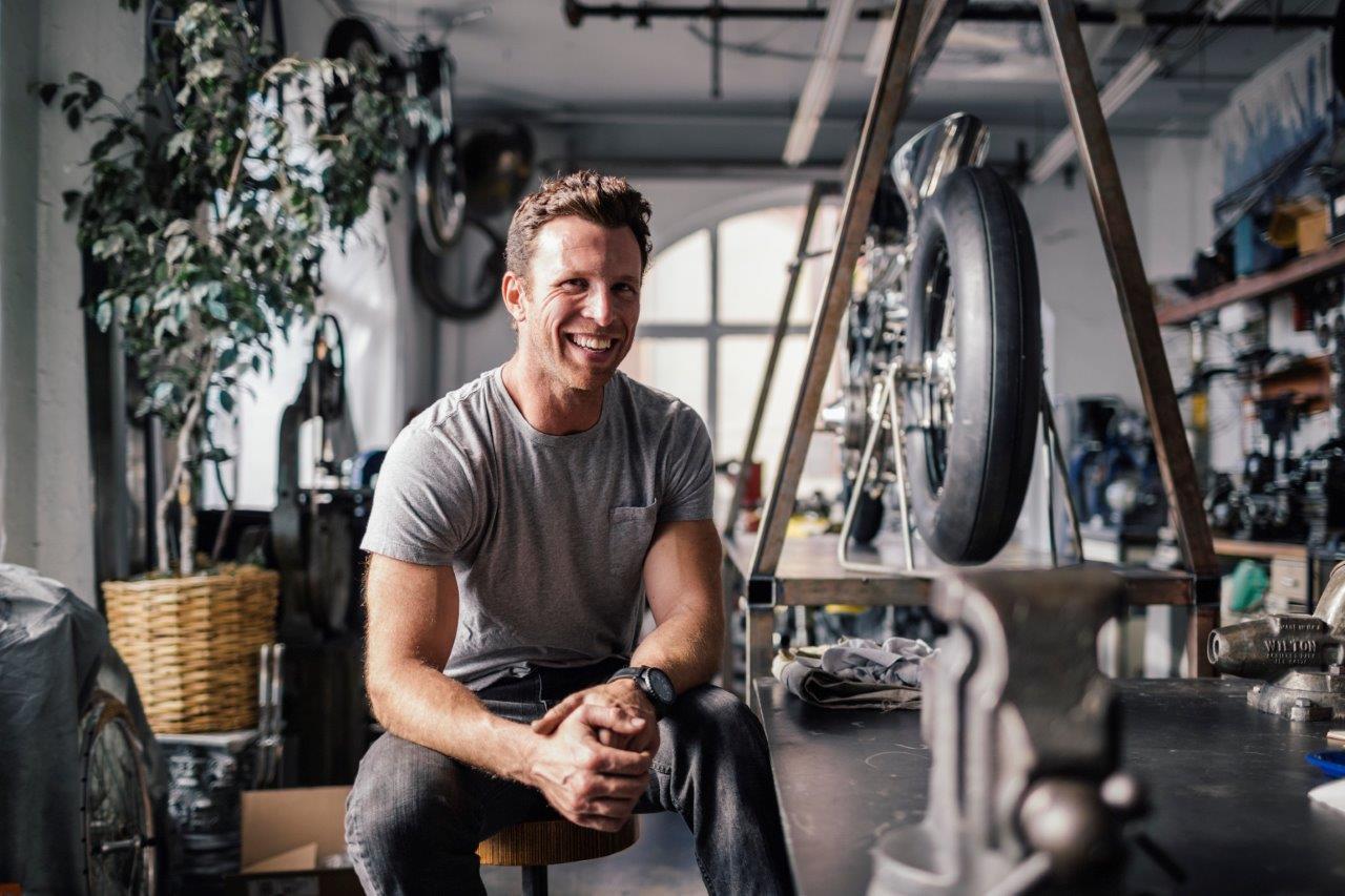 Max Hazan in his Los Angeles Workshop