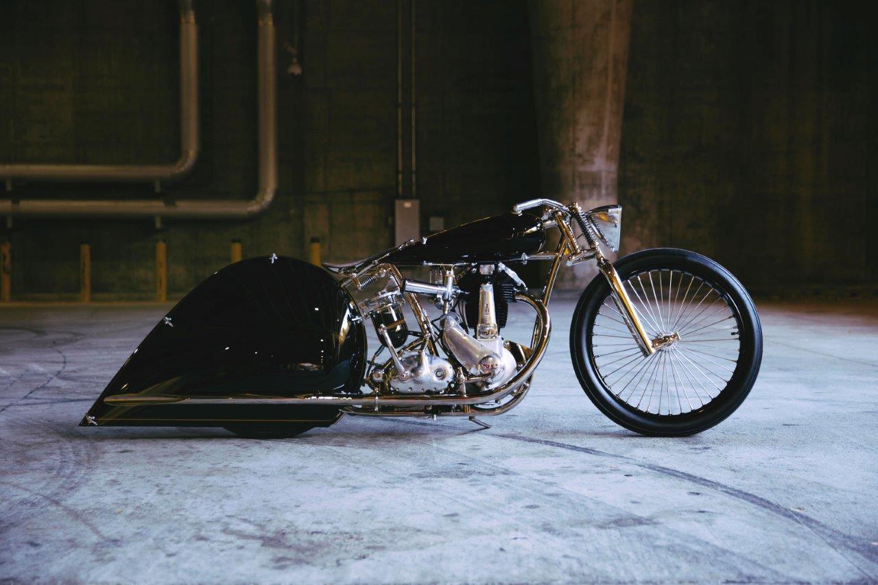 Max Hazan's JAP-engined custom BSA 500 custom motorcycle