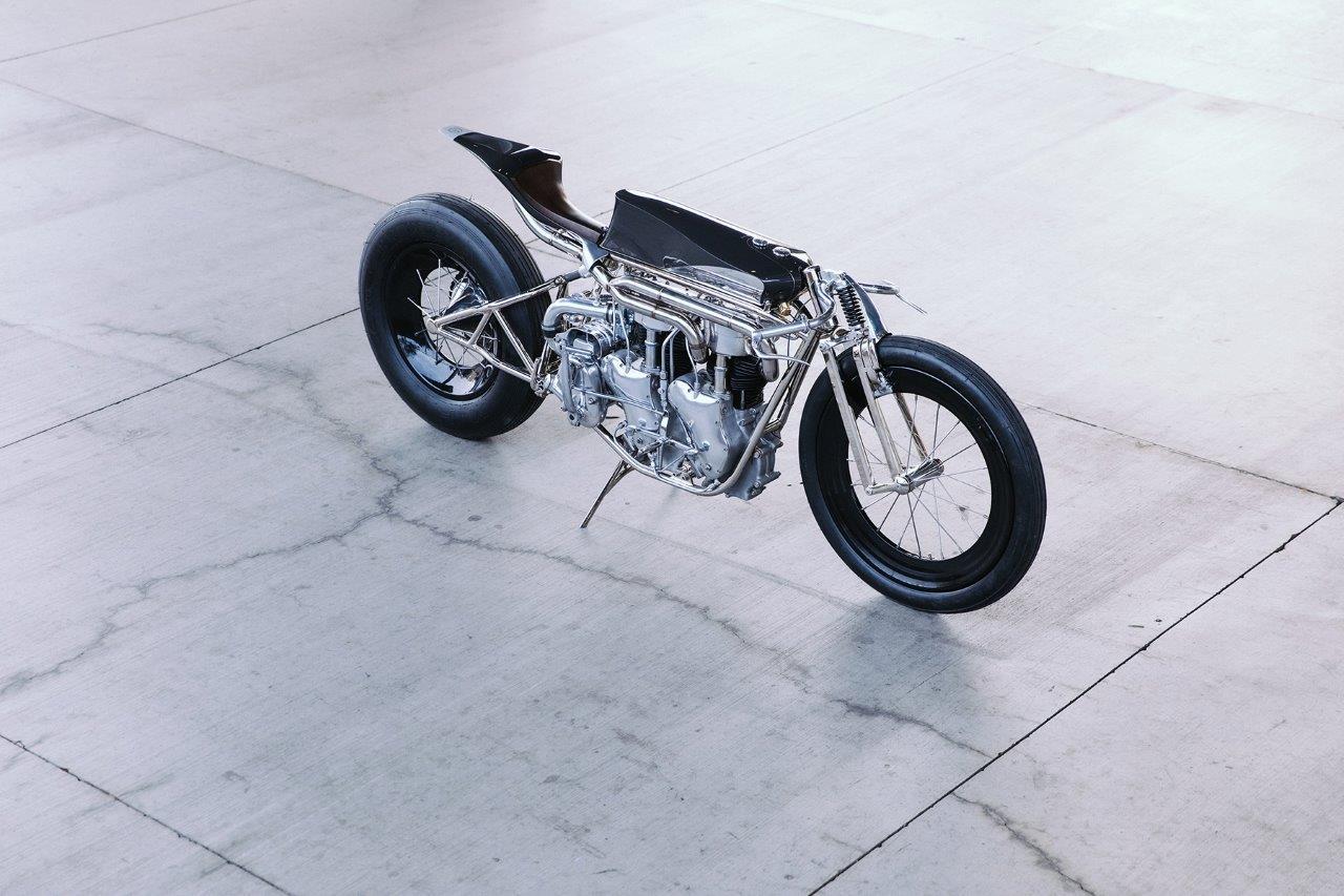 Max Hazan's Twin Velocette Engined Custom motorcycle