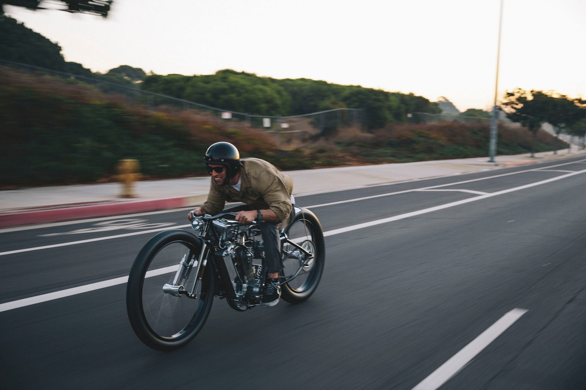 Max Hazan Rides his Custom Supercharged KTM Motorcycle on the Street