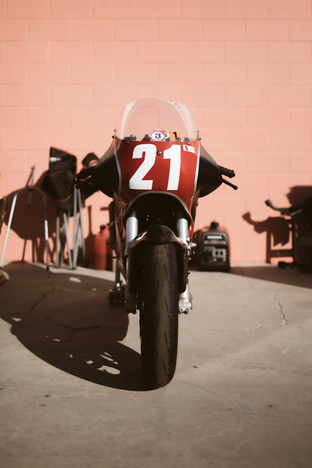 Racing Motorcycle in the pits
