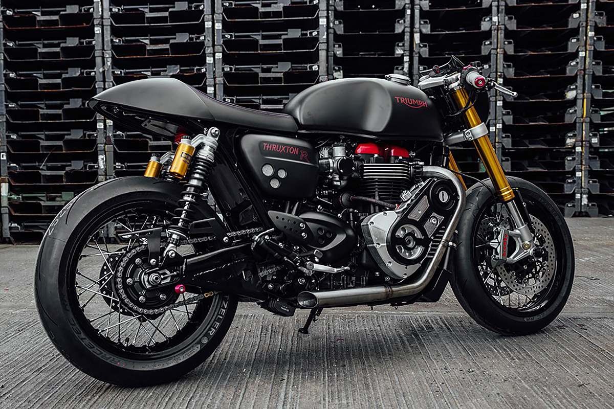 A supercharged Triumph Thruxton R for Glemseck 101