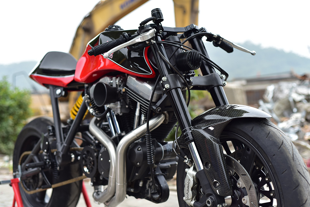 Dan Moto Harley Sportster cafe racer