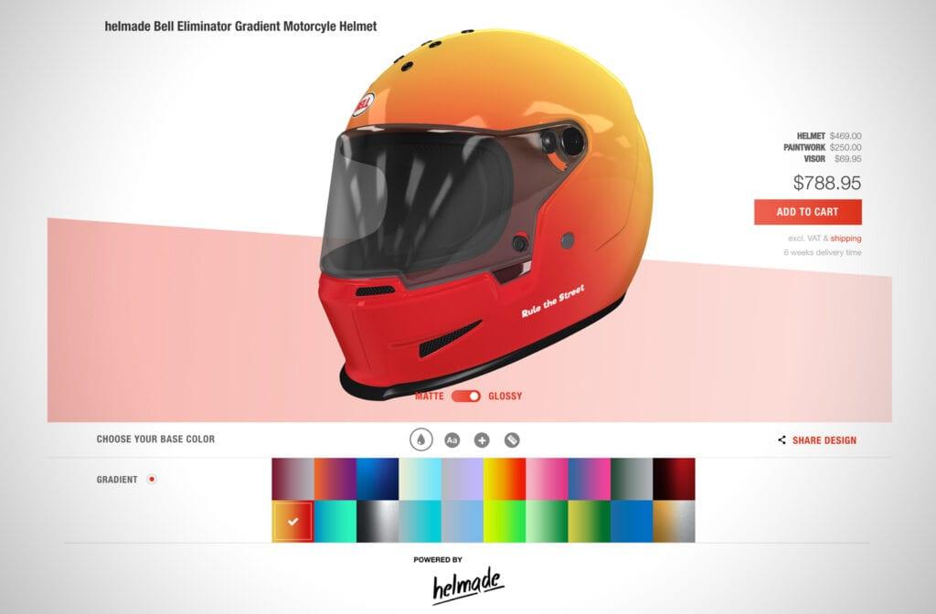 Helmade custom Bell Helmet