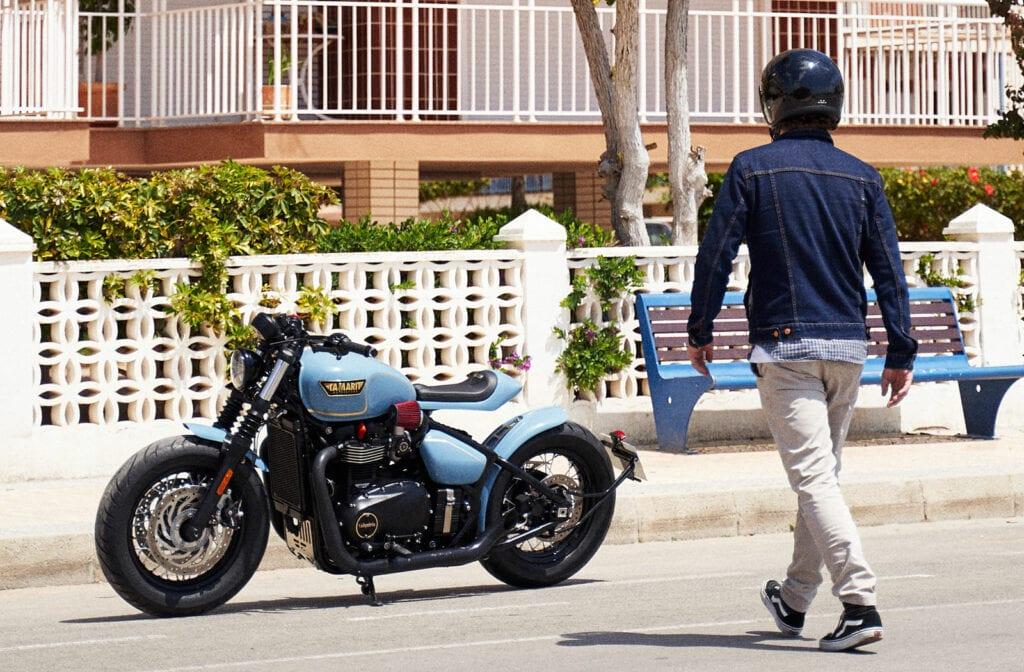 Custom Triumph Bobber Black