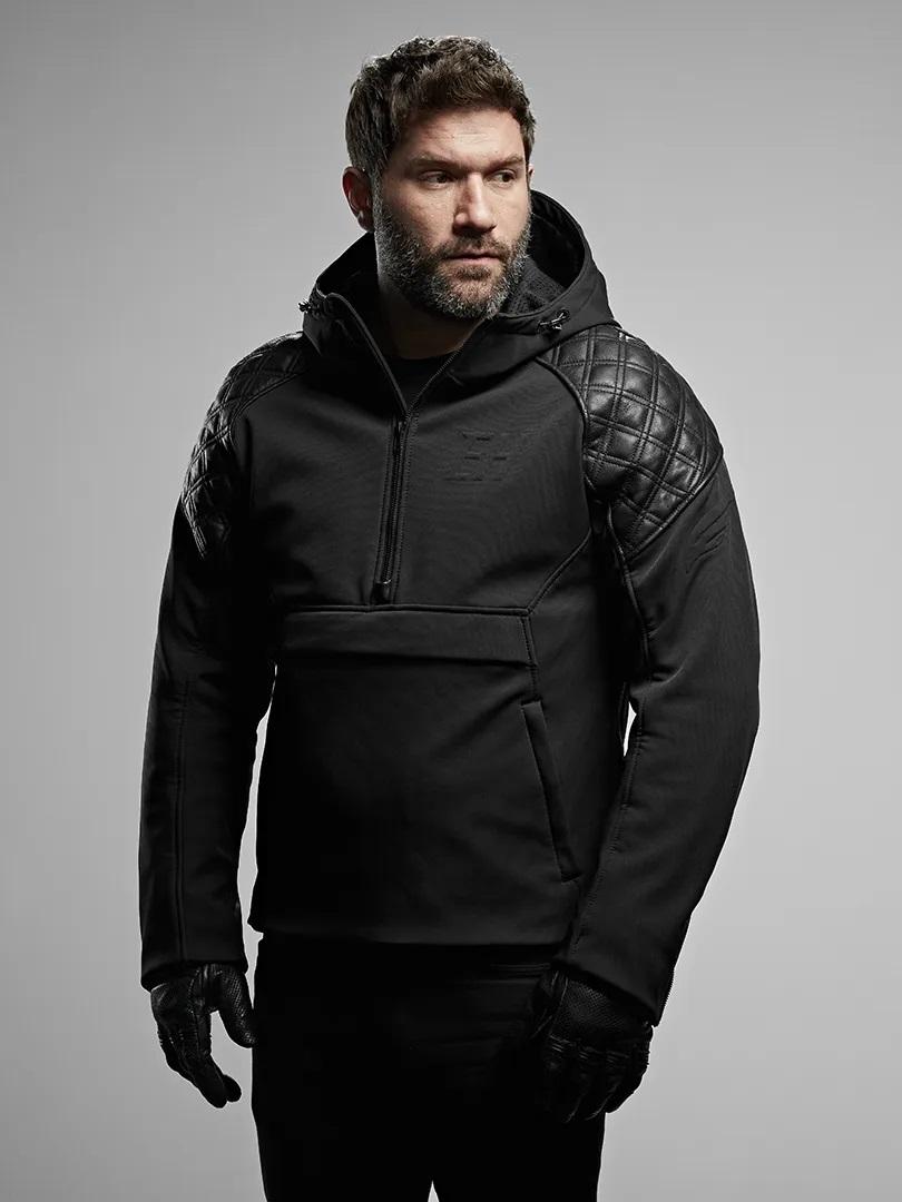 Male wearing Enginehawk Predator jacket