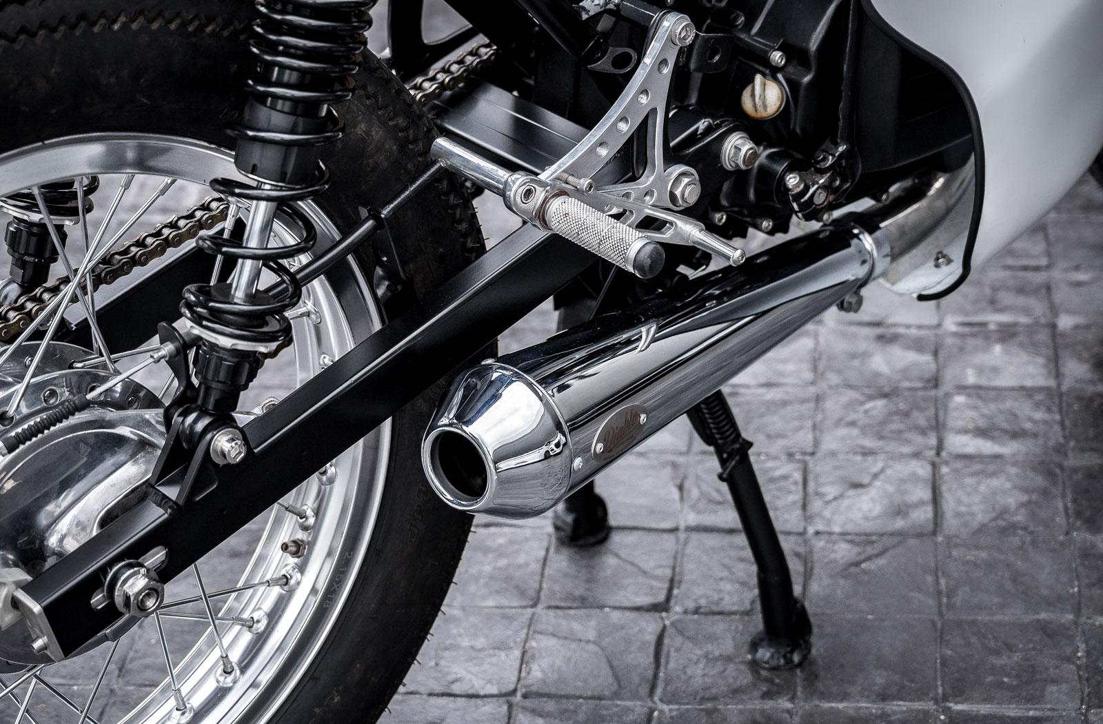 Honda 125 Megaphone exhaust