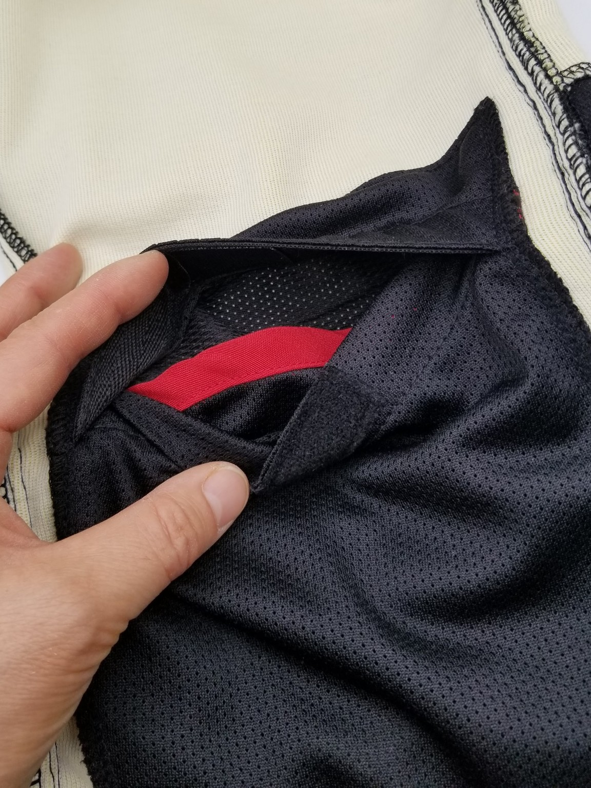 Closeup of where the protective pad is inserted
