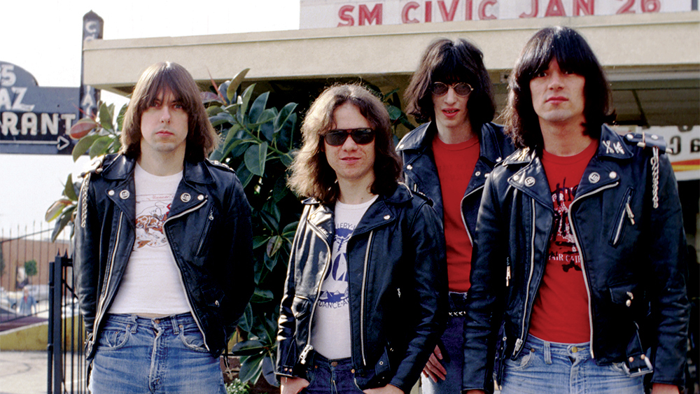 The Ramones pose for a photo in the late 1970s