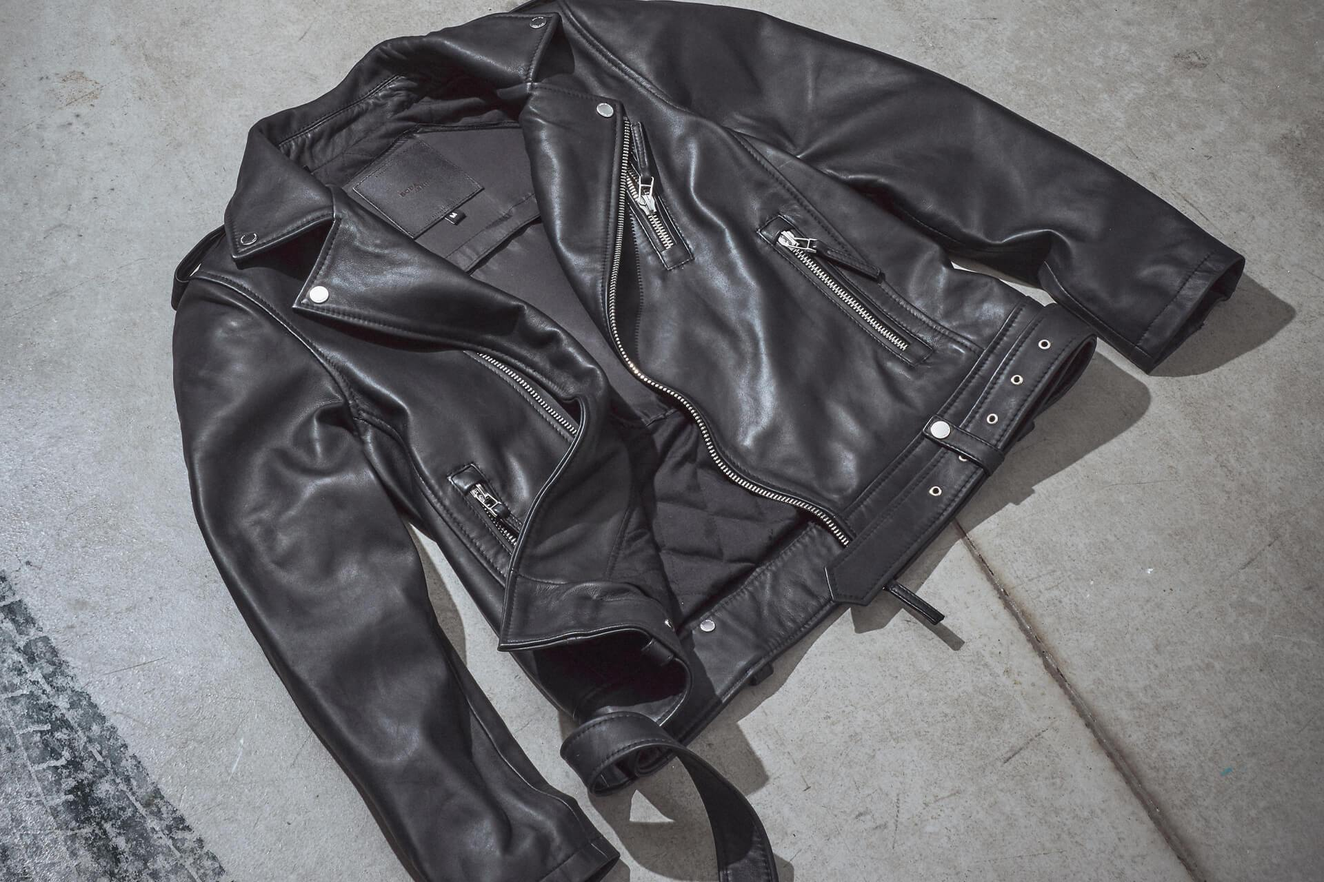 The Boda Skin's 'Voyager' leather motorcycle jacket