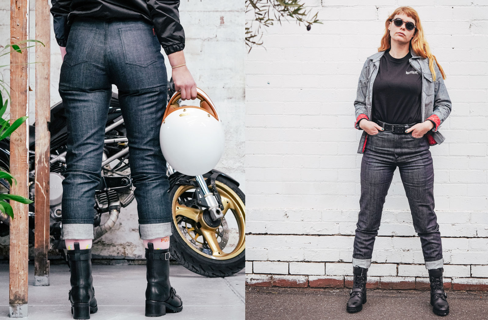 Clutch Moto womens motorcycle jeans